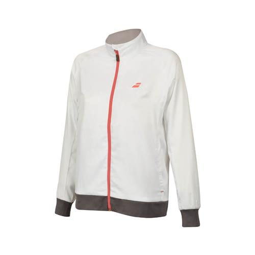 Babolat Womens Core Club Jacket (White/Rabbit)