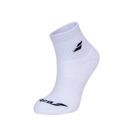 Babolat Quarter Socks 3pk (White)