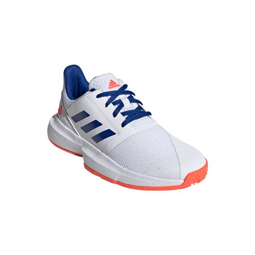 Adidas CourtJam XJ Junior Shoe (White/Red)