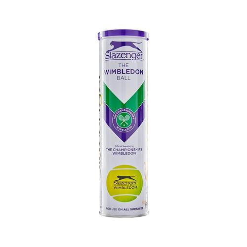 Slazenger Wimbledon 4 Ball White Can