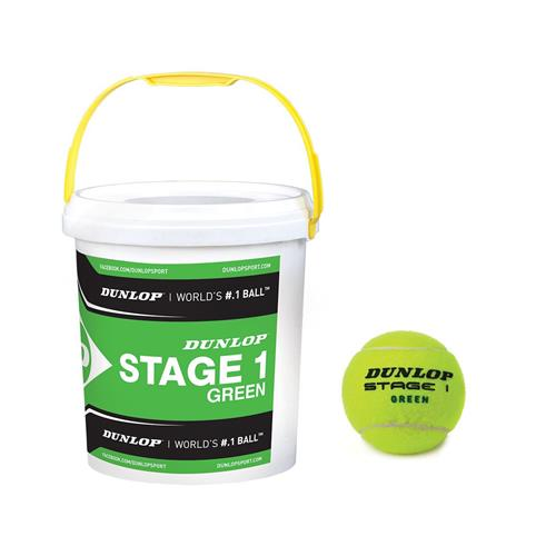 Dunlop Stage 1 Green 60 Ball Bucket
