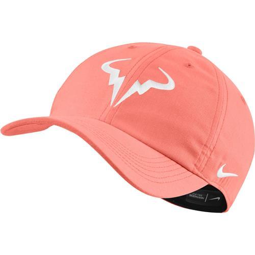 Nike Court Aerobill Rafa Heritage 86 Tennis Hat (bright Mango White)