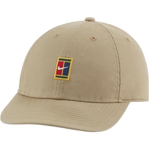 Nike Court Heritage 86 Logo Tennis Cap (Beige)