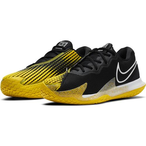 Nike Air Zoom Vapor Cage 4 HC Mens Shoe (Black/Yellow)