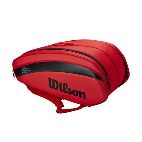 Wilson Federer DNA 12 Pack Racquet Bag Infrared