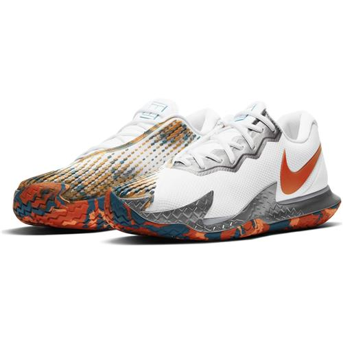 Nike Air Zoom Vapor Cage 4 HC Mens Shoe (White/Orange/Green Abyss)