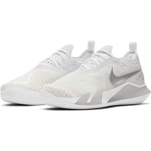 Nike React Vapor NXT HC Womens Shoe (White/MetallicSilver/Grey)