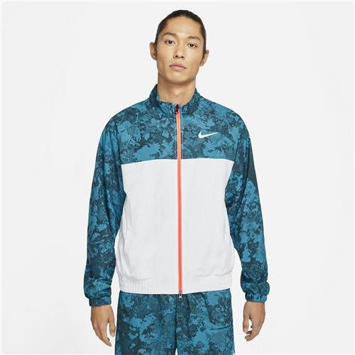 Nike Court Melbourne Full-Zip Mens Jacket (Green Abyss/White/Bright Mango)