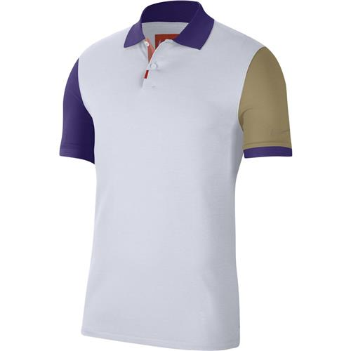 Nike Mens OZ Slim Polo Melbourne (White/Purple)