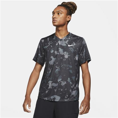 Nike Court Dri-Fit Victory Printed Mens Crew (Black/White)