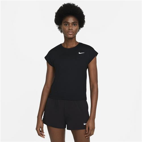 Nike Court Victory Womens Top Short Sleeve (Black/White)
