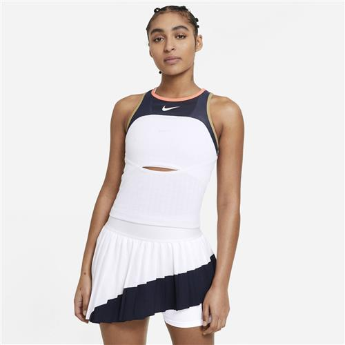 Nike Court Slam Melbourne Womens Tank (White/Obsidian/Bright Mango)