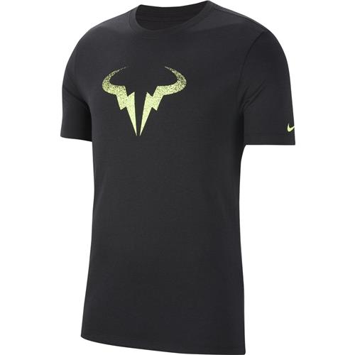 Nike Rafa Dri-Fit Cotton Tee (Black/Lime)