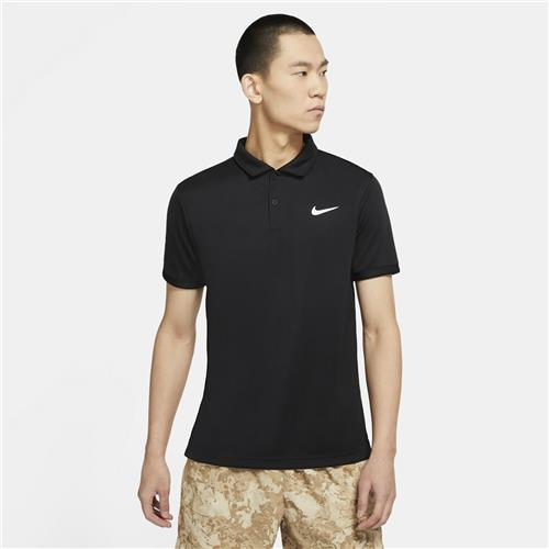 Nike Court Mens Dri-Fit Victory Polo (Black/White)