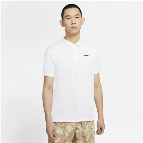 Nike Court Mens Dri-Fit Victory Polo (White/Black)