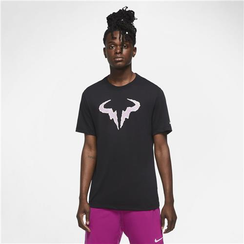 Nike Rafa Dri-Fit Cotton Tee (Black/Purple)