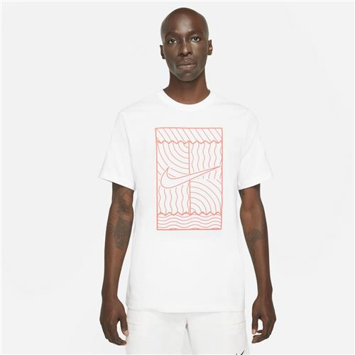 Nike Court Mens Tee SSNL Court OZ (White/Orange)