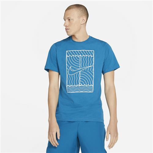 Nike Mens Oz Slam Court T-Shirt (Green/Abyss)