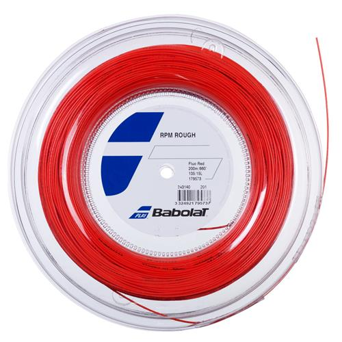 Babolat RPM Rough 125/17 String (Fluo Red) 200m Reel