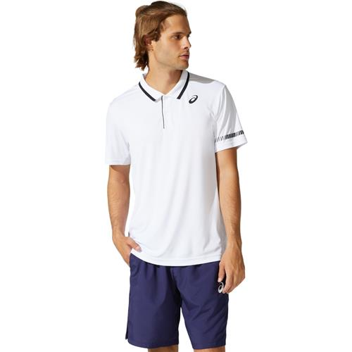 Asics Mens Court Polo Shirt (Brilliant White)
