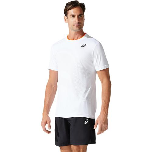 Asics Mens Court M GPX Short Sleeved Top (Brilliant White)