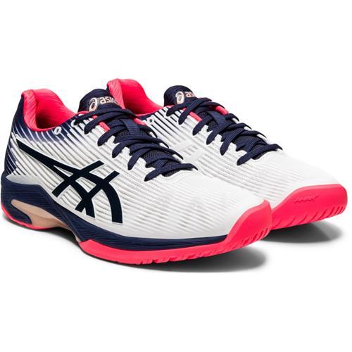 Asics Solution Speed FF Womens Shoe (White/Peacoat)