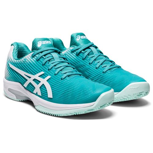 Asics Solution Speed FF Clay Womens Shoe (Cyan/White)
