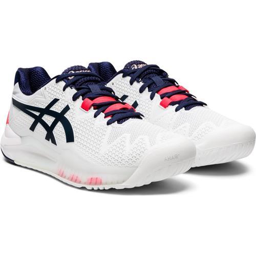 Asics Gel-Resolution 8 Womens Shoe (White/Peacoat)