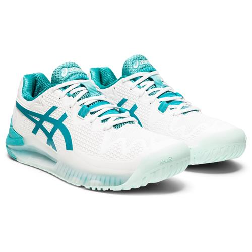 Asics Gel-Resolution 8 Womens Shoe (White/Lagoon)