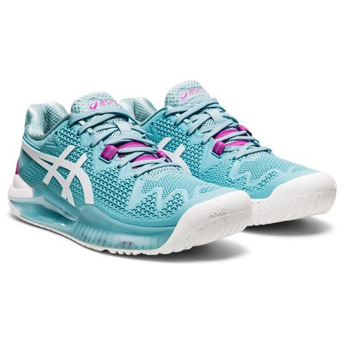 Asics Gel-Resolution 8 Womens Shoe (Smoke Blue/White)
