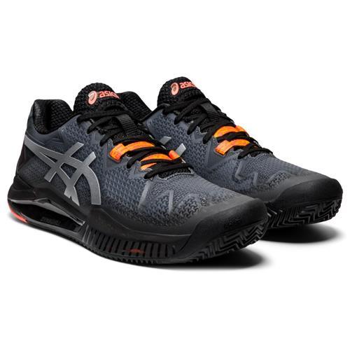 Asics Gel-Resolution 8 Clay L.E. Womens Shoe (Black/Red)