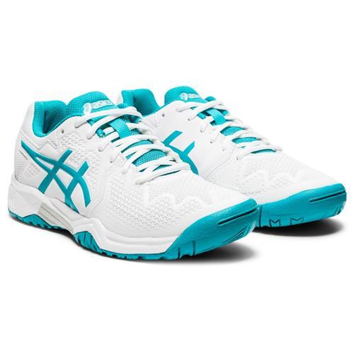 Asics Gel-Resolution 8 GS Kids Shoe (White/Lagoon)