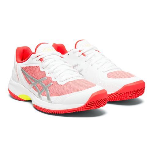 Asics Gel-Court Speed Clay Womens Shoe (White/Pink)