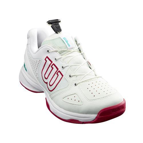 Wilson Kaos Junior QL Girls Tennis Shoes (S Sea/White/Sangria)