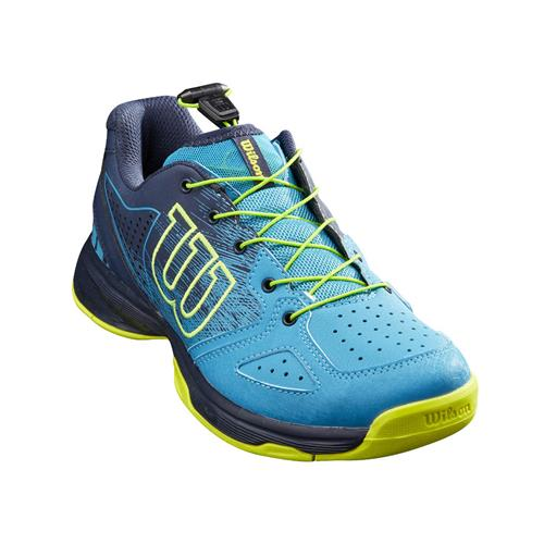 Wilson Kaos Junior QL Tennis Shoes (Barr Reef/Navy Blazer/Lime Pop)