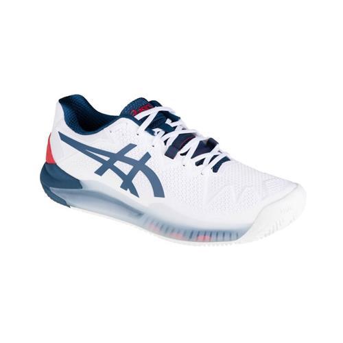Asics Gel-Resolution 8 Clay Mens Shoe  (White/Mako Blue)