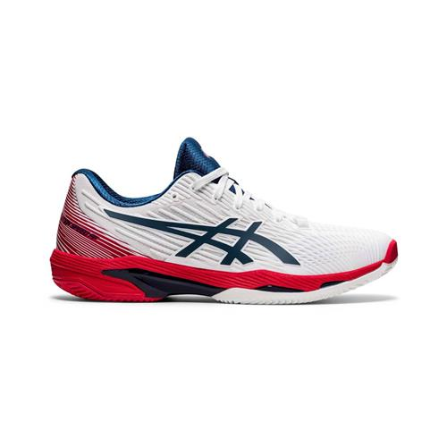 Asics Solution Speed FF 2 Clay Mens Shoe (White/Mako Blue)