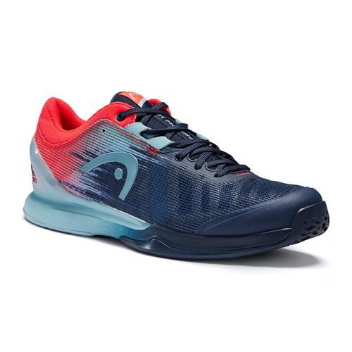 Head Sprint Pro 3.0 Mens Tennis Shoes (Dress Blue/Neon Red)