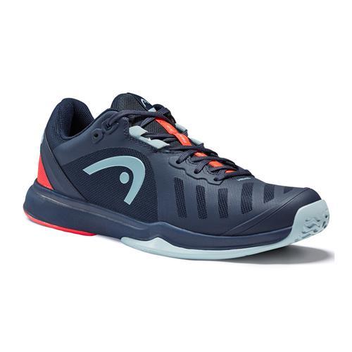 Head Sprint Team 300 2021 Mens Tennis Shoes (Dress Blue/Neon Red)