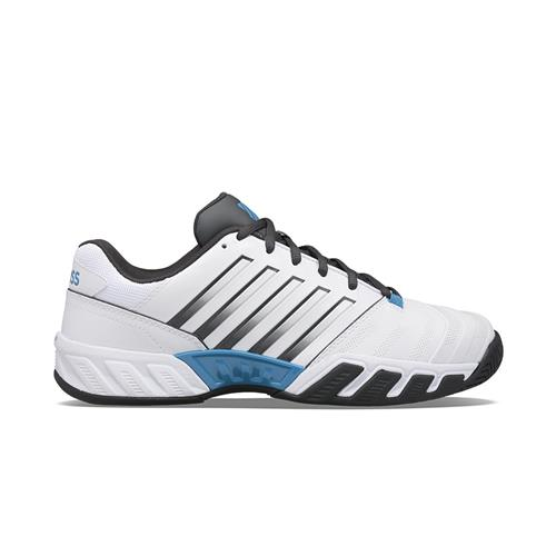 K-Swiss Bigshot Light 4 Mens Shoe (White/Dark Shadow/Swedish Blue)