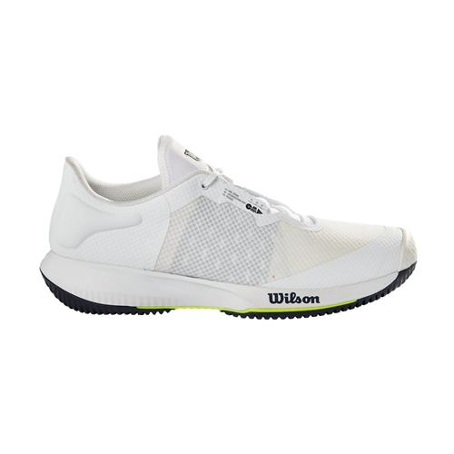 Wilson Kaos Swift Mens Tennis Shoes (White/Outer Space/Safety Yellow)