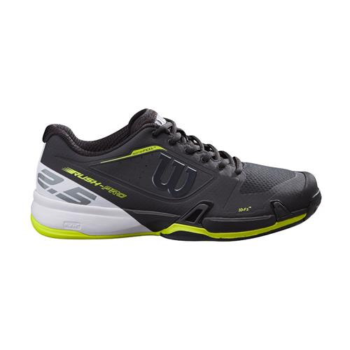 Wilson Rush Pro 2.5 2021 Mens Tennis Shoes (Black/White/Lime Pop)