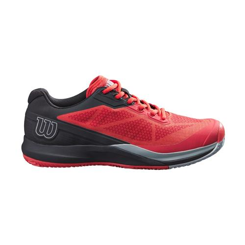 Wilson Rush Pro 3.5 Clay Mens Tennis Shoes (Infrared/Black/Pearl Blue)