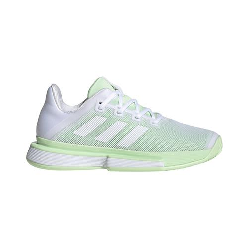 Adidas SoleMatch Bounce Womens Shoe (White/Lime)