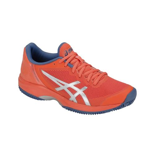 Asics Gel-Court Speed Clay Womens Shoe (Papaya/Silver)