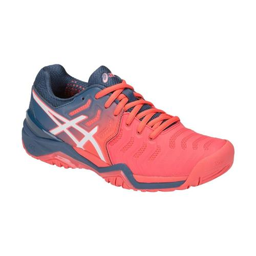 Asics Gel-Resolution 7 Womens Shoe (Papaya/White)