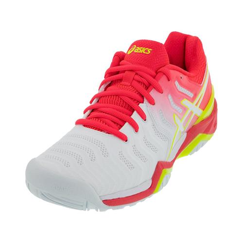Asics Gel-Resolution 7 Womens Shoe (White/Pink)