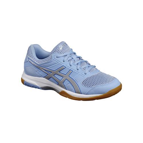 Asics Gel-Rocket 8 Womens Shoe (Blue/Silver/White)