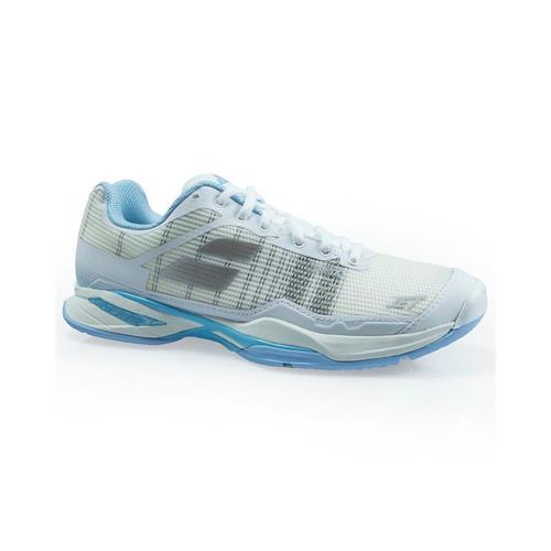Babolat Jet Mach I AC Womens Shoe (White/Sky Blue)