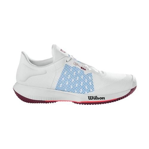 Wilson Kaos Swift Womens Tennis Shoes (White/Chambray Blue/Fig)